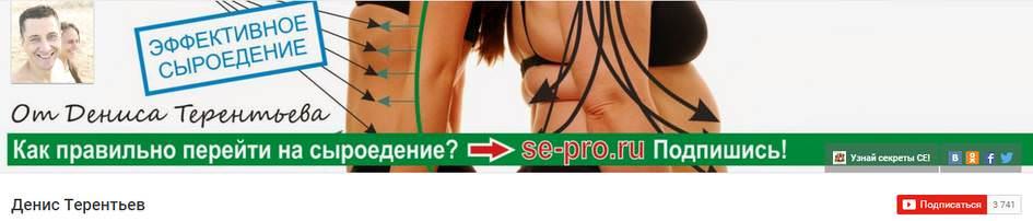 YouTube канал Денис Терентьев