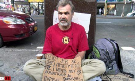 Чиж Нью-Йорк взял интервью у русского бездомного в Америке