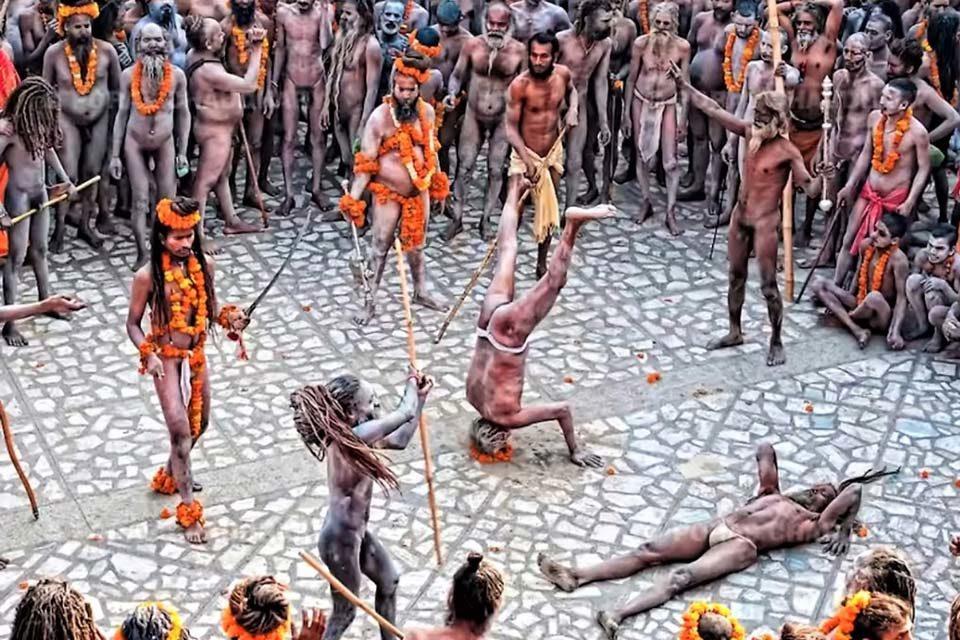 Садху в Индии